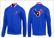 Wholesale Cheap NFL Houston Texans Team Logo Jacket Blue_1