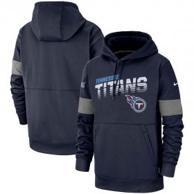 Wholesale Cheap Tennessee Titans Nike Sideline Team Logo Performance Pullover Hoodie Navy