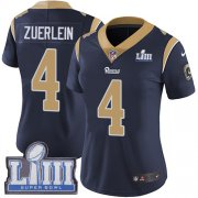 Wholesale Cheap Nike Rams #4 Greg Zuerlein Navy Blue Team Color Super Bowl LIII Bound Women's Stitched NFL Vapor Untouchable Limited Jersey