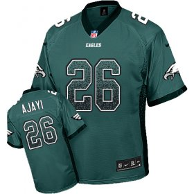 Wholesale Cheap Nike Eagles #26 Jay Ajayi Midnight Green Team Color Men\'s Stitched NFL Elite Drift Fashion Jersey