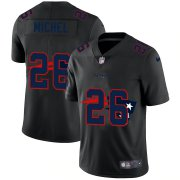Wholesale Cheap New England Patriots #26 Sony Michel Men's Nike Team Logo Dual Overlap Limited NFL Jersey Black