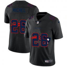 Wholesale Cheap New England Patriots #26 Sony Michel Men\'s Nike Team Logo Dual Overlap Limited NFL Jersey Black