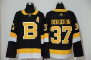 Wholesale Cheap Adidas Bruins #37 Patrice Bergeron Black 2019-20 Authentic Third Stitched NHL Jersey