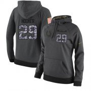 Wholesale Cheap NFL Women's Nike Indianapolis Colts #29 Malik Hooker Stitched Black Anthracite Salute to Service Player Performance Hoodie