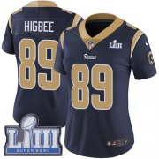 Wholesale Cheap Nike Rams #89 Tyler Higbee Navy Blue Team Color Super Bowl LIII Bound Women's Stitched NFL Vapor Untouchable Limited Jersey