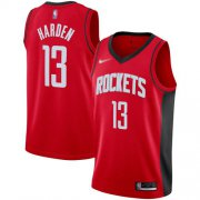 Wholesale Cheap Rockets #13 James Harden Red Basketball Swingman Icon Edition 2019-2020 Jersey