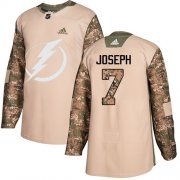 Cheap Adidas Lightning #7 Mathieu Joseph Camo Authentic 2017 Veterans Day Youth Stitched NHL Jersey