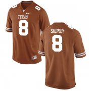 Wholesale Cheap Men's Texas Longhorns 8 Jordan Shipley Orange Nike College Jersey