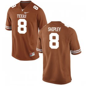 Wholesale Cheap Men\'s Texas Longhorns 8 Jordan Shipley Orange Nike College Jersey