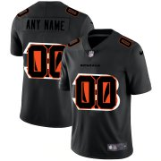 Wholesale Cheap Cincinnati Bengals Custom Men's Nike Team Logo Dual Overlap Limited NFL Jersey Black