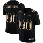 Wholesale Cheap San Francisco 49ers Custom Carbon Black Vapor Statue Of Liberty Limited NFL Jersey