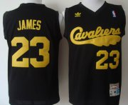 Wholesale Cheap Cleveland Cavaliers #23 LeBron James 2009 Black Swingman Throwback Jersey