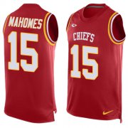 Wholesale Cheap Nike Chiefs #15 Patrick Mahomes Red Team Color Men's Stitched NFL Limited Tank Top Jersey