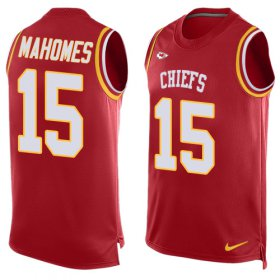 Wholesale Cheap Nike Chiefs #15 Patrick Mahomes Red Team Color Men\'s Stitched NFL Limited Tank Top Jersey