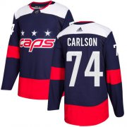 Wholesale Cheap Adidas Capitals #74 John Carlson Navy Authentic 2018 Stadium Series Stitched Youth NHL Jersey