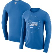 Wholesale Cheap Detroit Lions Nike Property Of Sideline Performance Long Sleeve T-Shirt Blue