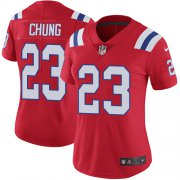 Wholesale Cheap Nike Patriots #23 Patrick Chung Red Alternate Women's Stitched NFL Vapor Untouchable Limited Jersey