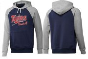 Wholesale Cheap Minnesota Twins Pullover Hoodie Dark Blue & Grey