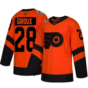 Wholesale Cheap Adidas Flyers #28 Claude Giroux Orange Authentic 2019 Stadium Series Stitched Youth NHL Jersey