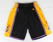 Wholesale Cheap Los Angeles Lakers Black With Purple Short
