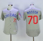Wholesale Cheap Cubs #70 Joe Maddon Grey Flexbase Authentic Collection Road Stitched MLB Jersey