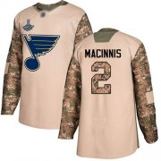 Wholesale Cheap Adidas Blues #2 Al MacInnis Camo Authentic 2017 Veterans Day Stanley Cup Champions Stitched NHL Jersey