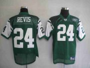 Wholesale Cheap Jets #24 Darrelle Revis Stitched Green NFL Jersey