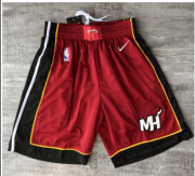 Wholesale Cheap Nike Miami Heat Red Short