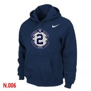 Wholesale Cheap Nike New York Yankees #2 Derek Jeter Official Final Season Commemorative Logo Pullover Hoodie Dark Blue