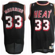 Wholesale Cheap Miami Heat #33 Alonzo Mourning Black Swingman Throwback Jersey