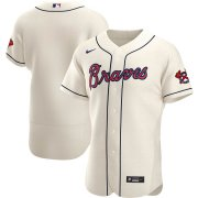 Wholesale Cheap Atlanta Braves Men's Nike Cream Alternate 2020 Authentic Official MLB Team Jersey