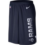 Wholesale Cheap Los Angeles Rams Nike Sideline Player Knit Performance Shorts Navy