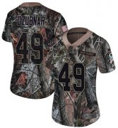 Wholesale Cheap Nike Titans #49 Nick Dzubnar Camo Women's Stitched NFL Limited Rush Realtree Jersey