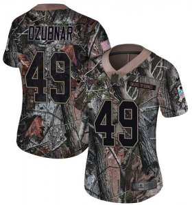 Wholesale Cheap Nike Titans #49 Nick Dzubnar Camo Women\'s Stitched NFL Limited Rush Realtree Jersey
