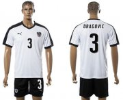 Wholesale Cheap Austria #3 Dragovic White Away Soccer Country Jersey