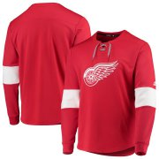 Wholesale Cheap Detroit Red Wings adidas Platinum Long Sleeve Jersey T-Shirt Red