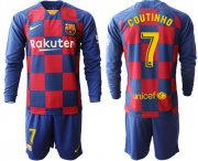 Wholesale Barcelona #7 Arda Home Long Sleeves Soccer Club Jersey