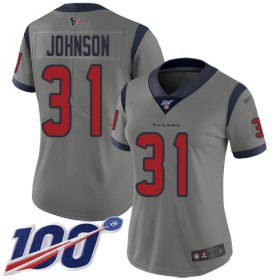 Wholesale Cheap Nike Texans #31 David Johnson Gray Women\'s Stitched NFL Limited Inverted Legend 100th Season Jersey