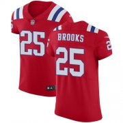 Wholesale Cheap Nike Patriots #25 Terrence Brooks Red Alternate Men's Stitched NFL Vapor Untouchable Elite Jersey