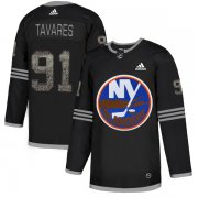 Wholesale Cheap Adidas Islanders #91 John Tavares Black Authentic Classic Stitched NHL Jersey