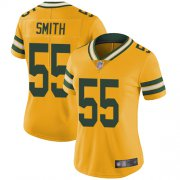 Wholesale Cheap Nike Packers #55 Za'Darius Smith Yellow Women's Stitched NFL Limited Rush Jersey