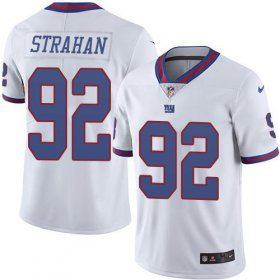 Wholesale Cheap Nike Giants #92 Michael Strahan White Youth Stitched NFL Limited Rush Jersey