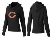 Wholesale Cheap Women's Chicago Bears Logo Pullover Hoodie Black