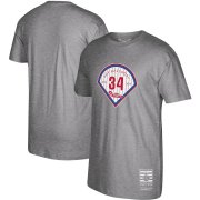 Wholesale Cheap Philadelphia Phillies #34 Roy Halladay Mitchell & Ness 2019 Hall of Fame Graphic T-Shirt Gray