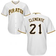 Wholesale Cheap Pirates #21 Roberto Clemente White New Cool Base Stitched MLB Jersey