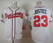Wholesale Cheap Braves #23 David Justice White Cool Base Stitched MLB Jersey