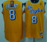 Wholesale Cheap Los Angeles Lakers #8 Kobe Bryant Los Yellow Swingman Throwback Jersey