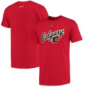 Wholesale Cheap Calgary Flames Sean Monahan Reebok Alternate Name and Number T-Shirt Red