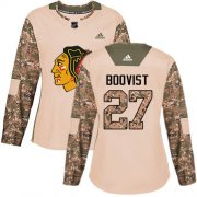 Wholesale Cheap Adidas Blackhawks #27 Adam Boqvist Camo Authentic 2017 Veterans Day Women's Stitched NHL Jersey