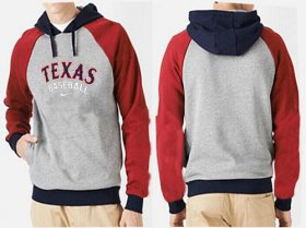 Wholesale Cheap Texas Rangers Pullover Hoodie Red & Grey
